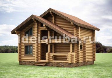 Дачный Дачные дома из рубленного бревна