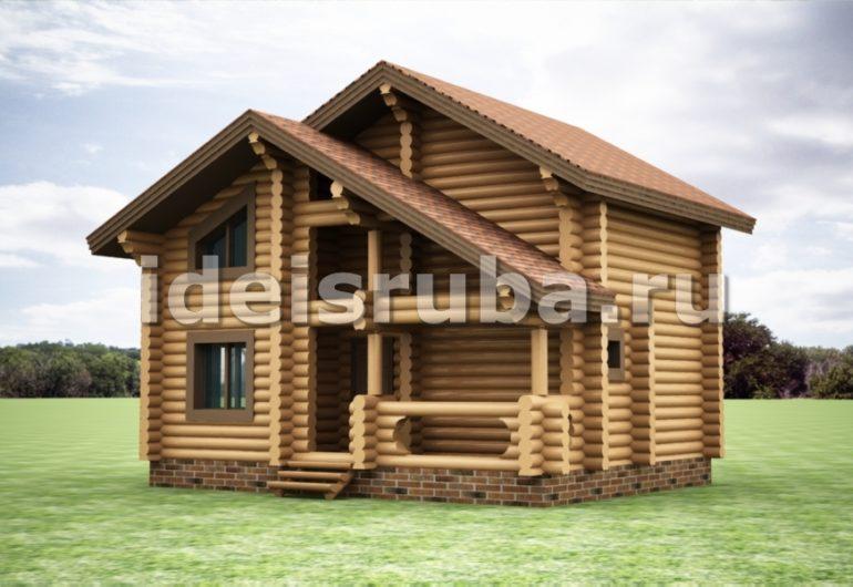 Дачный Дома из бревна