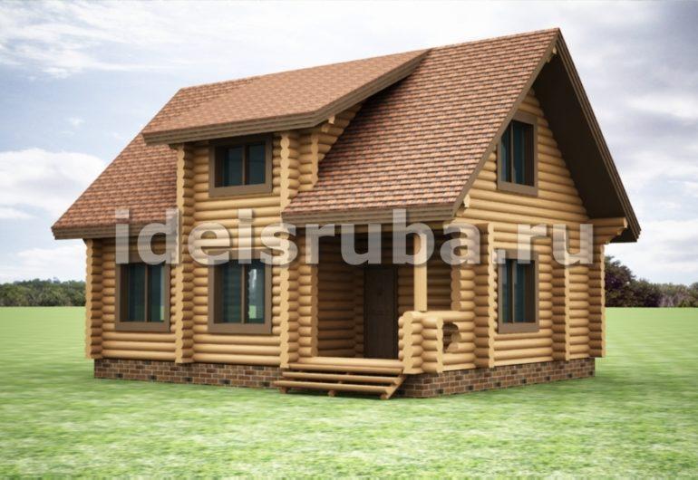 Зимний очаг Дома из бревна
