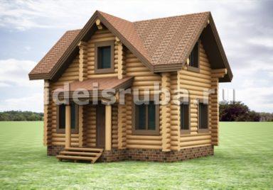 Опушка Дачные дома из рубленного бревна