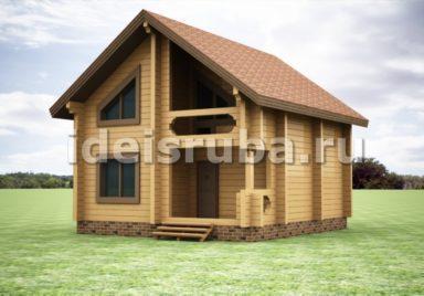 Корсар Дома из бруса