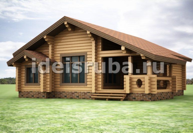 Лесная поляна Дома из бруса