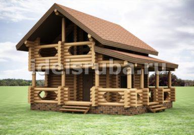 Баня Престиж Бани из оцилиндрованного бревна