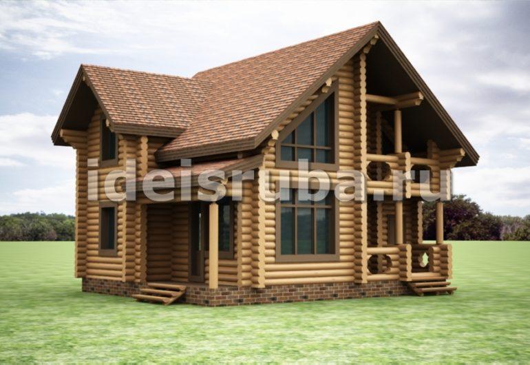 Изящный Дома из бревна