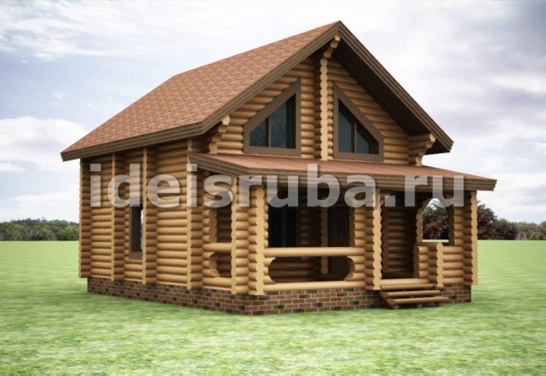 Грибная поляна Дома из бревна