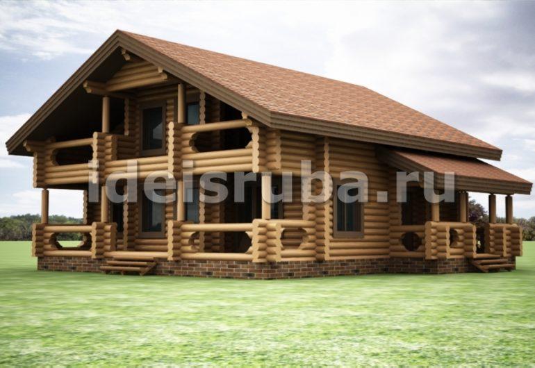Фрегат Дома из бревна