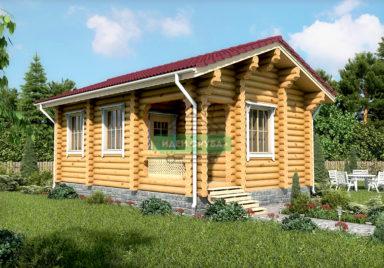 Зеленый луг Дачные дома из рубленного бревна