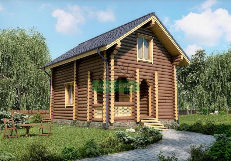 Солнечный Дома из бревна