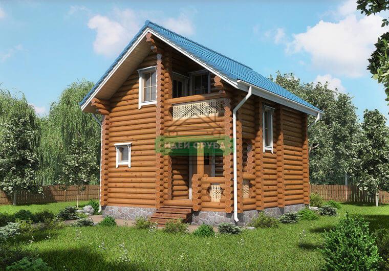Мирный Дома из бревна