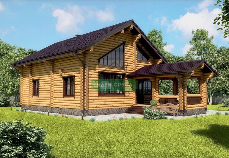 Скандинавия Дома из бревна
