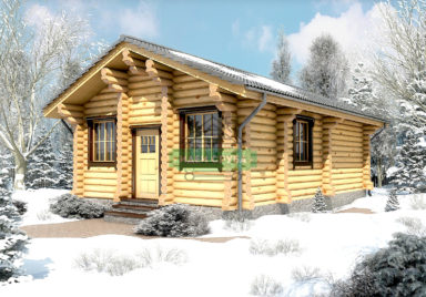 Снежная долина Дачные дома из рубленного бревна