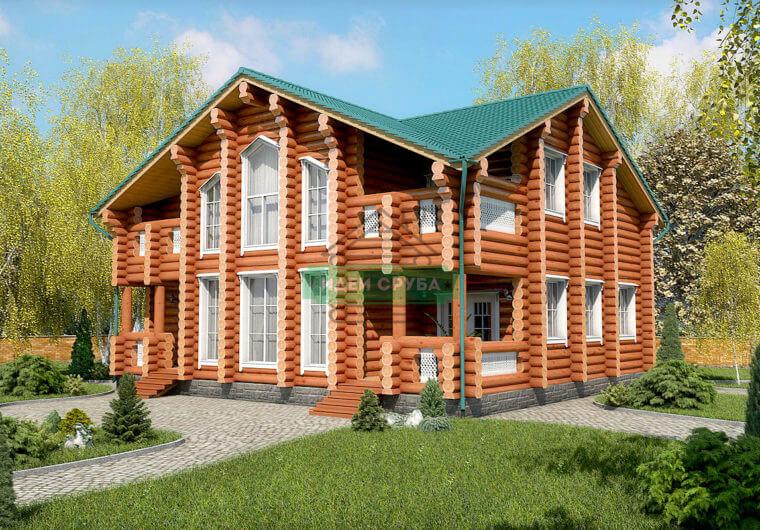 Вдохновение Дома из бревна