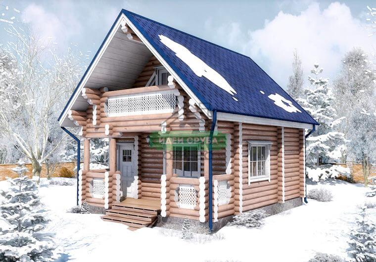 Гостевой дом Канада Бани из оцилиндрованного бревна