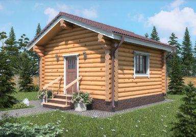 Лесной уголок Дачные дома из рубленного бревна