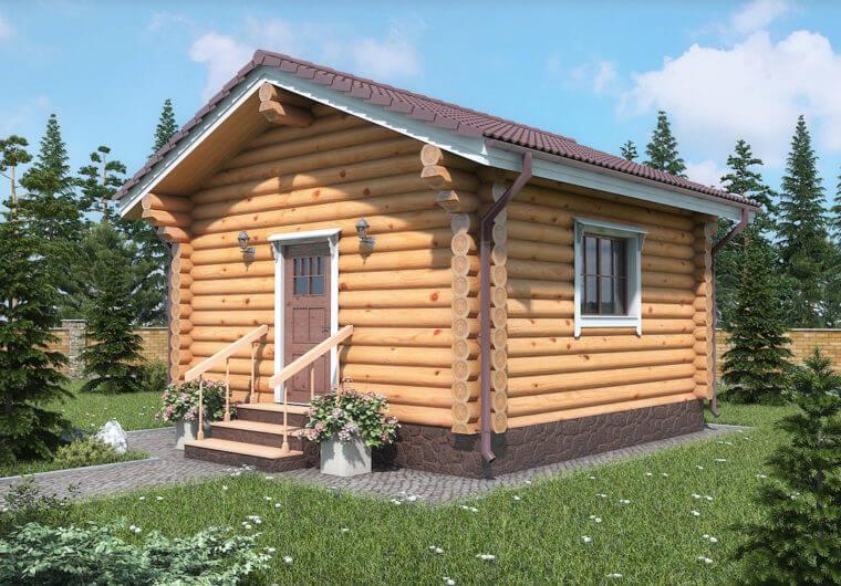 Лесной уголок Дома из бревна