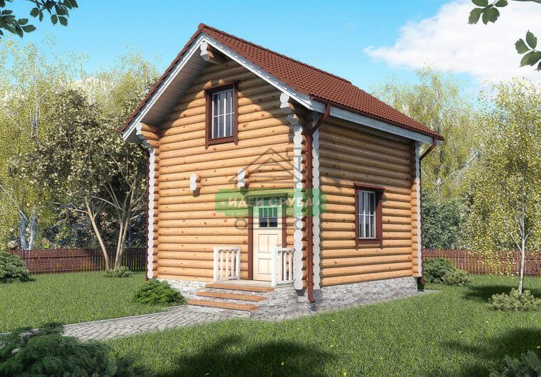 Избушка Дачные дома из рубленного бревна