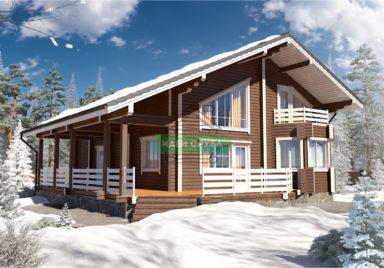 Зимняя сказка Дома из бруса
