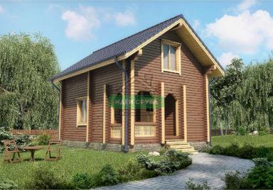 Солнечный Дачные дома из профилированного бруса