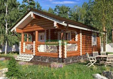 Баня Ромашка Бани из бревна